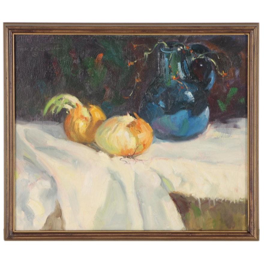 Frank E. Zuccarelli Still Life Oil Painting