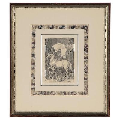"""Photomechanical Print after Albrecht Dürer """"The Small Horse"""""""