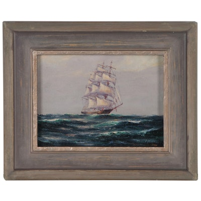 Frank Schneider Oil Painting of Ship