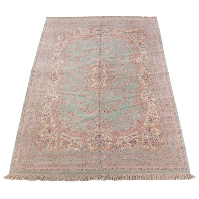 8'8 x 12'10 Machine Made Floral Wool Area Rug