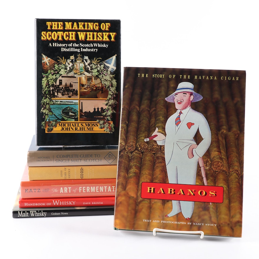 """First Printing """"The Making of Scotch Whisky"""" with Books on Cuban Cigars and More"""