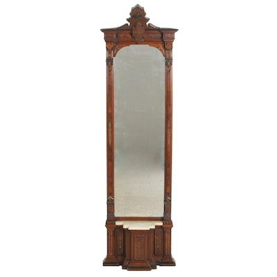 Late Victorian Eastlake Style Pier Mirror, Late 19th Century