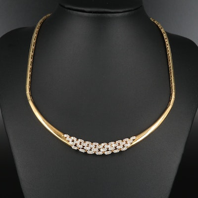 18K Gold 2.72 CTW Diamond Necklace