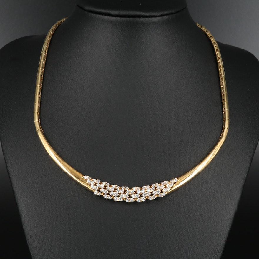 18K Gold 2.72 CTW Diamond Necklace