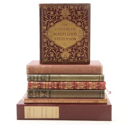"Robert Louis Stevenson Book Collection Featuring 1905 ""Virginibus Puerisque"""