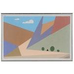 "Charles W. Brumbaugh Gouache Painting ""Mountain Vista"", 1994"