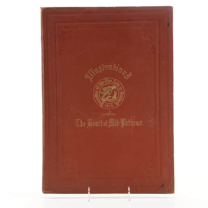 """1873 First Edition """"Six Engravings in Illustration of The Heart of Midlothian"""""""