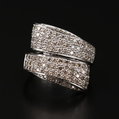 18K White Gold 1.50 CTW Diamond Bypass Ring