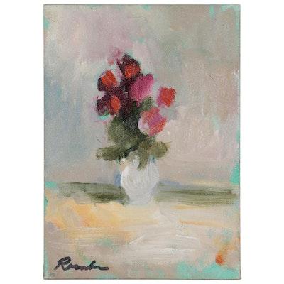 Sally Rosenbaum Oil Painting of Floral Still Life