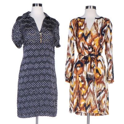 Tory Burch Silk Print Belted Shift and Empire Waist Dresses