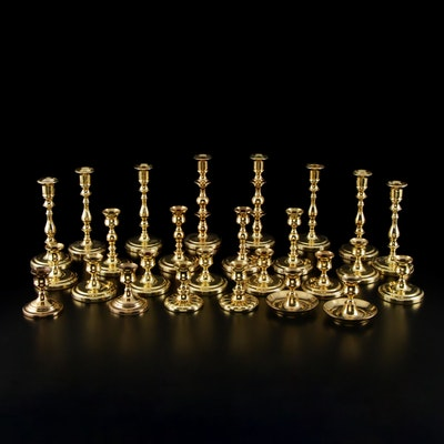 Baldwin Brass Candlestick Pairs