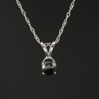 14K Gold 0.47 CT Black Diamond Necklace