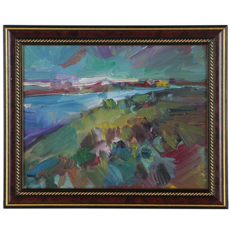 """Jose Trujillo Oil Painting """"Ocean View"""""""