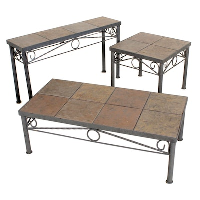 Ceramic Tile Top Coffee Table, Console Table and Side Table