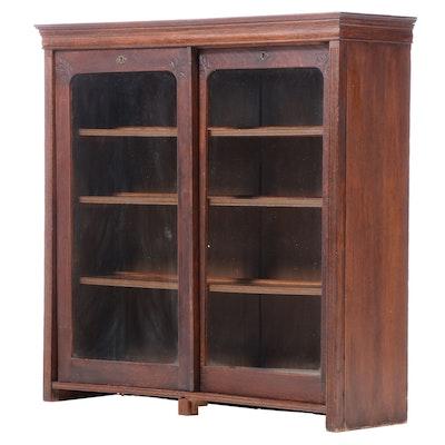 Oak Bookcase Cabinet, Early 20th Century
