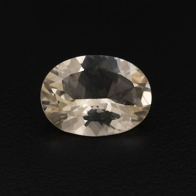 Loose 6.94 CT Oval Faceted Citrine