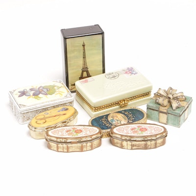 Vanity and Pill Boxes with Mini Sewing Kit