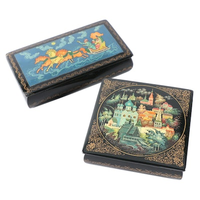 Hand-Painted Russian Lacquer Boxes