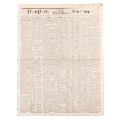 """""""New-York American"""" Newspaper Vol. XXI #3739, 11 September 1839"""