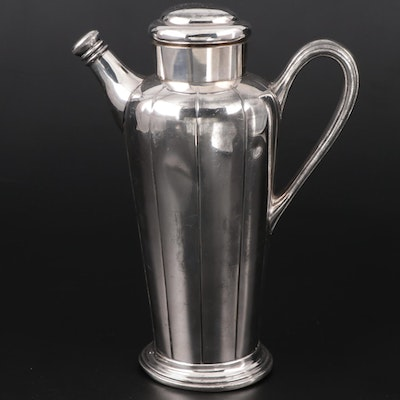 Knickerbocker Silver Co. Silver Plate Cocktail Shaker, Early to Mid 20th Century