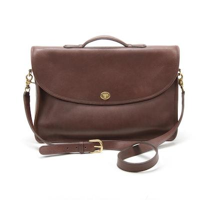 Coach Lexington Legacy Brown Leather Messenger Bag