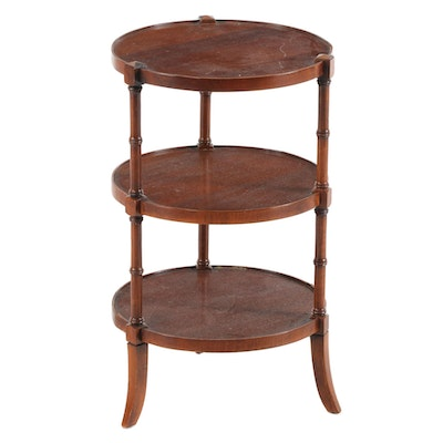 Regency Style Mahogany Tiered End Table, Mid to Late 20th Century
