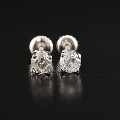 14K Gold 1.00 CTW Diamond Stud Earrings