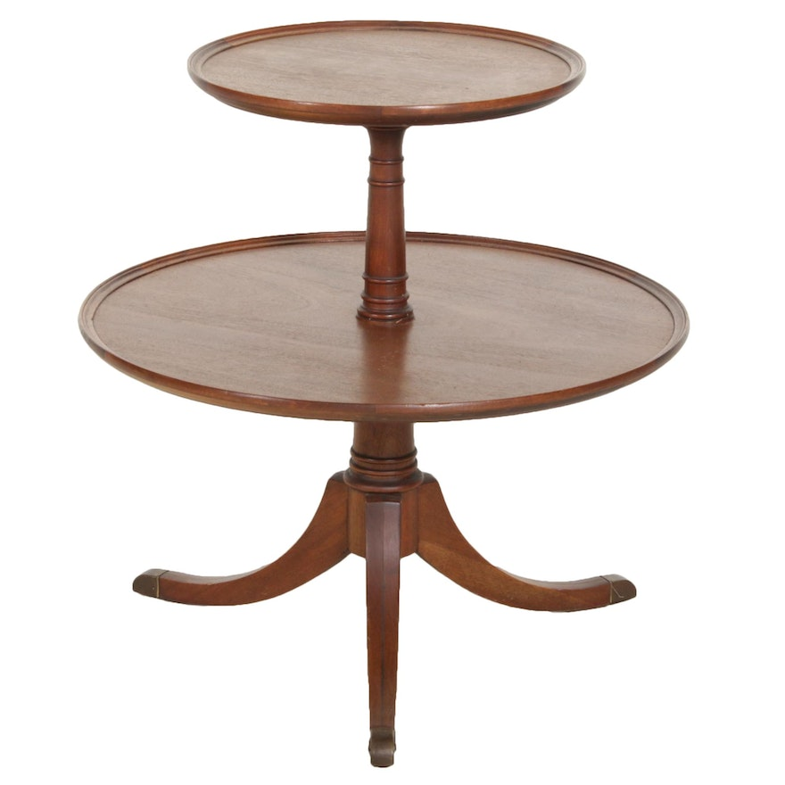 Duncan Phyfe Style Two Tiered Side Table
