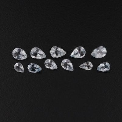 Loose Pear Shaped 5.08 CTW Aquamarine Gemstones