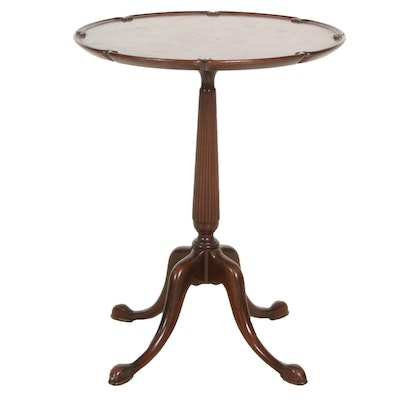 George III Style Walnut Pie Crust Side Table