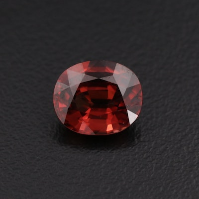 Loose 4.26 CT Oval Faceted Zircon Gemstone