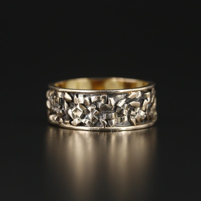 Michael Overstrom 14K Yellow Gold Textured Band