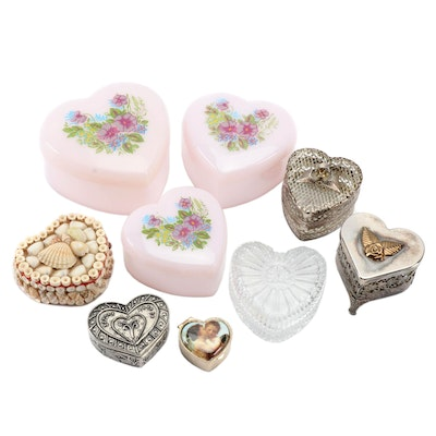 Assorted Heart Shaped Trinket Boxes