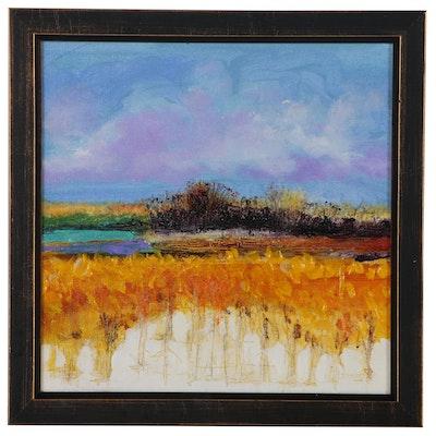 "Robert Lackney Oil Painting ""August Prayers"", 2012"