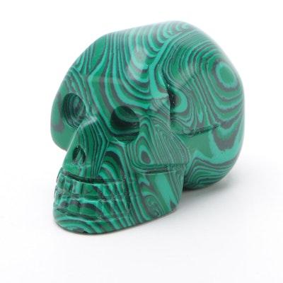 Imitation Malachite Skull