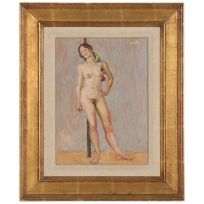 Doug Smith Figural Oil Painting