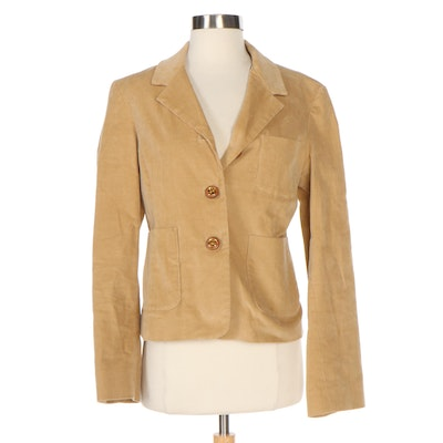 Tory Burch Tan Corduroy Jacket