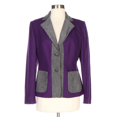 J. Peterman Royal Statement Felted Wool Blend Blazer