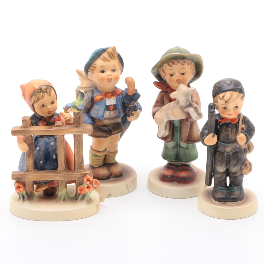 "Goebel ""Home From Market"" and Other Porcelain Hummel Figurines"