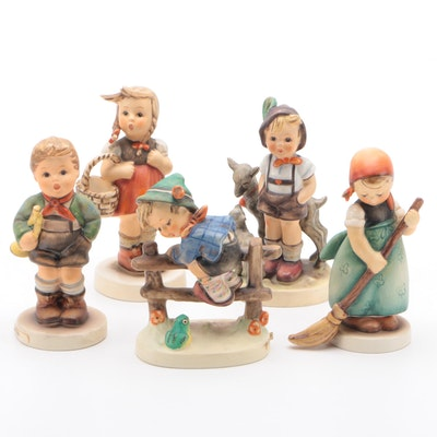 "Goebel ""Trumpet Boy"" and Other Porcelain Hummel Figurines"