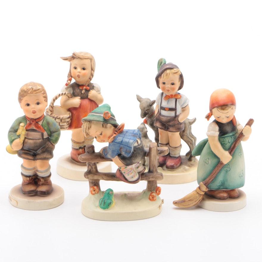 """Goebel """"Trumpet Boy"""" and Other Porcelain Hummel Figurines"""