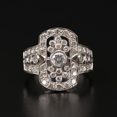 18K White Gold 1.15 CTW Diamond Ring