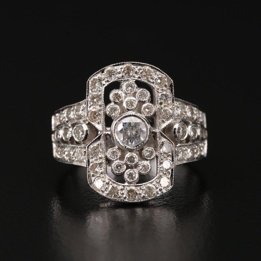 18K White Gold 1.15 CTW Diamond Ring