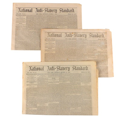"""""""National Anti-Slavery Standard"""" Newspaper Issues, 1 October–29 October 1864"""