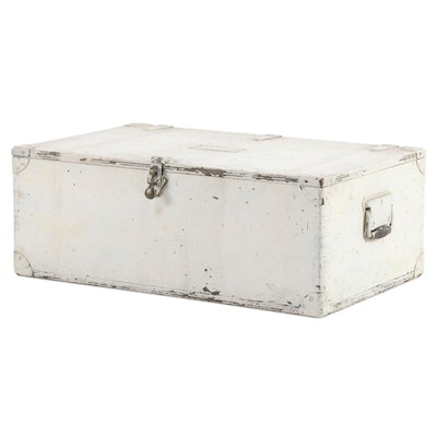 Painted Footlocker Chest, Early to Mid 20th Century