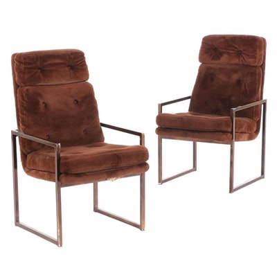 Chromcraft Mid Century Modern  Upholstered Armchairs, Mid-20th Century