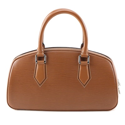 Louis Vuitton Jasmine Bag in Cannelle Epi and Smooth Leather