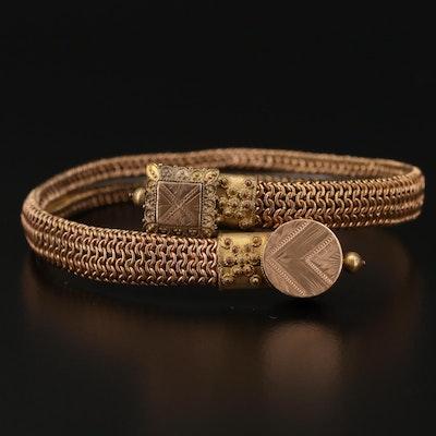 Victorian Etruscan Revival Bypass Bracelet