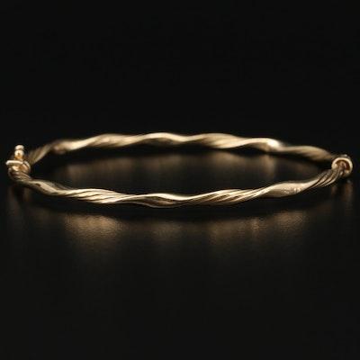 14K Hinged Twisted Bracelet