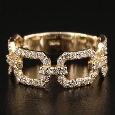 14K Yellow Gold 0.53 CTW Diamond Ring